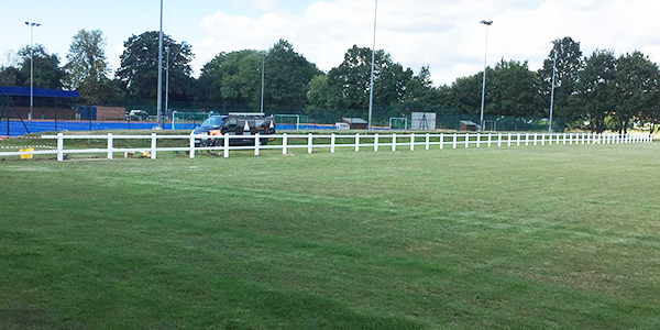 Spectator fencing for sports club